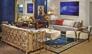 Sala de estar com mix de estilos