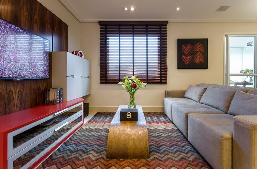 Zigue-zague da estampa chevron é tendência na decoração