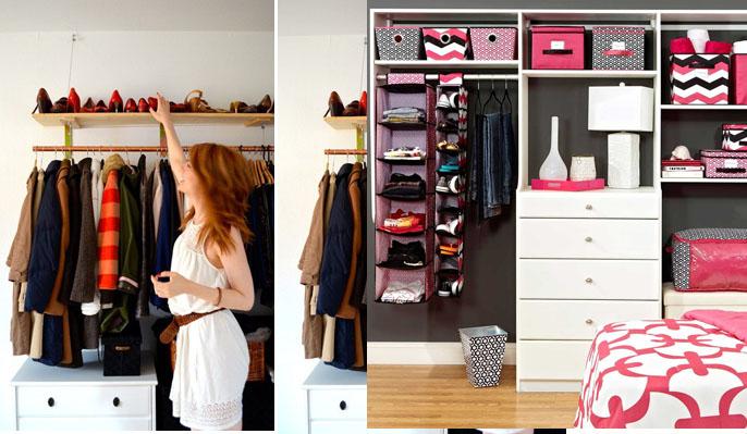 Como driblar a falta de armários no quarto