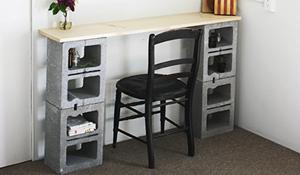 Reaproveite blocos de cimento para fazer móveis