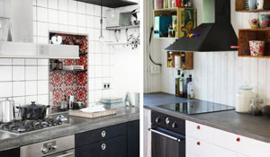 Concreto aparente na decoração da cozinha