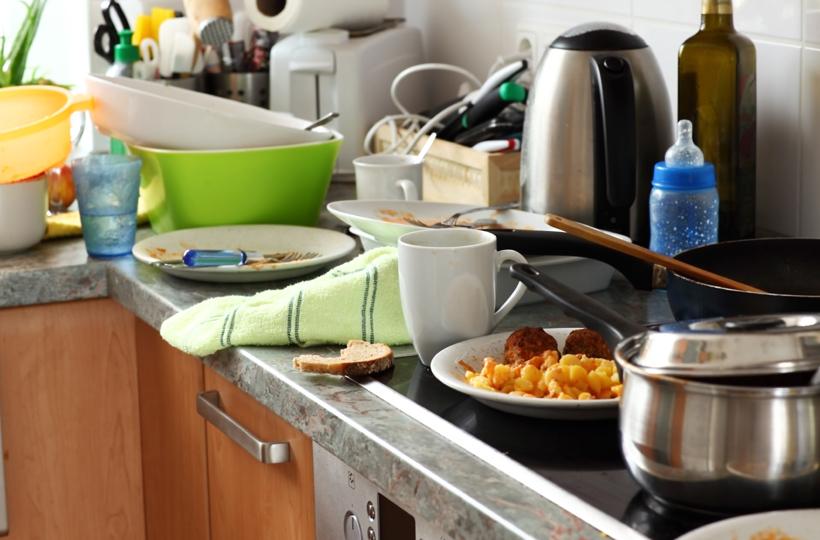 cozinha bagunçada