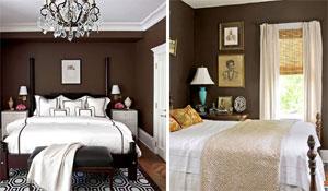 Ambientes com parede marrom