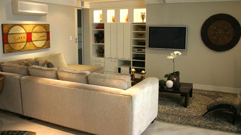 Sala projetada por Andréa Gonzaga